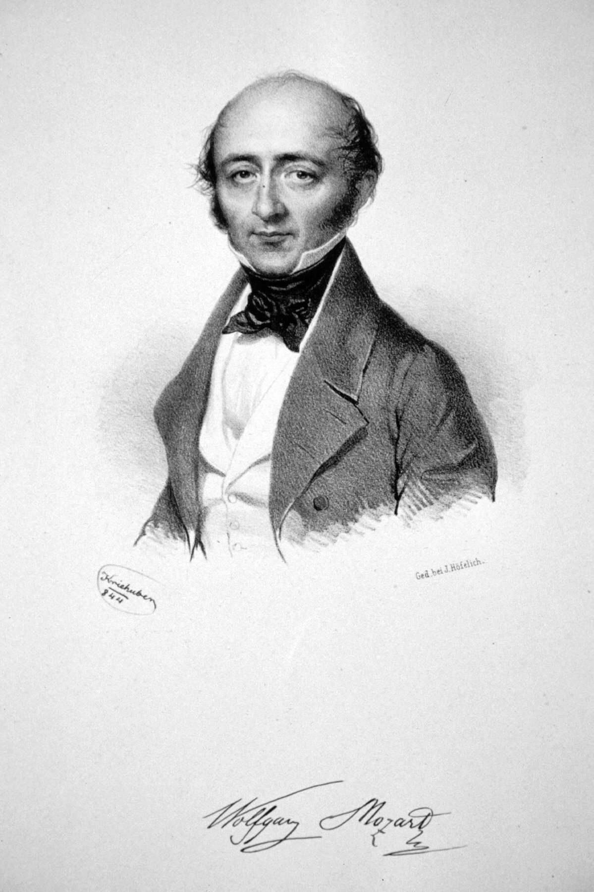 Franz Xaver Mozart (1791-1844), in 1844 not long before his death