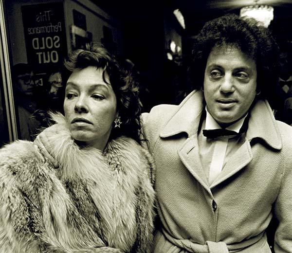 Billy Joel with his first wife, Elizabeth Ann Joel circa 1975