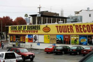 Tower Records in North Beach, San Francisco, closing up shop in 2006