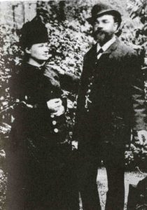 Dvořák and his wife Anna in London, 1886